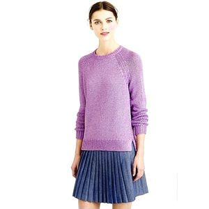 J. Crew metallic side slit sweater